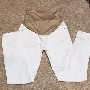 Loft Maternity White Jeans